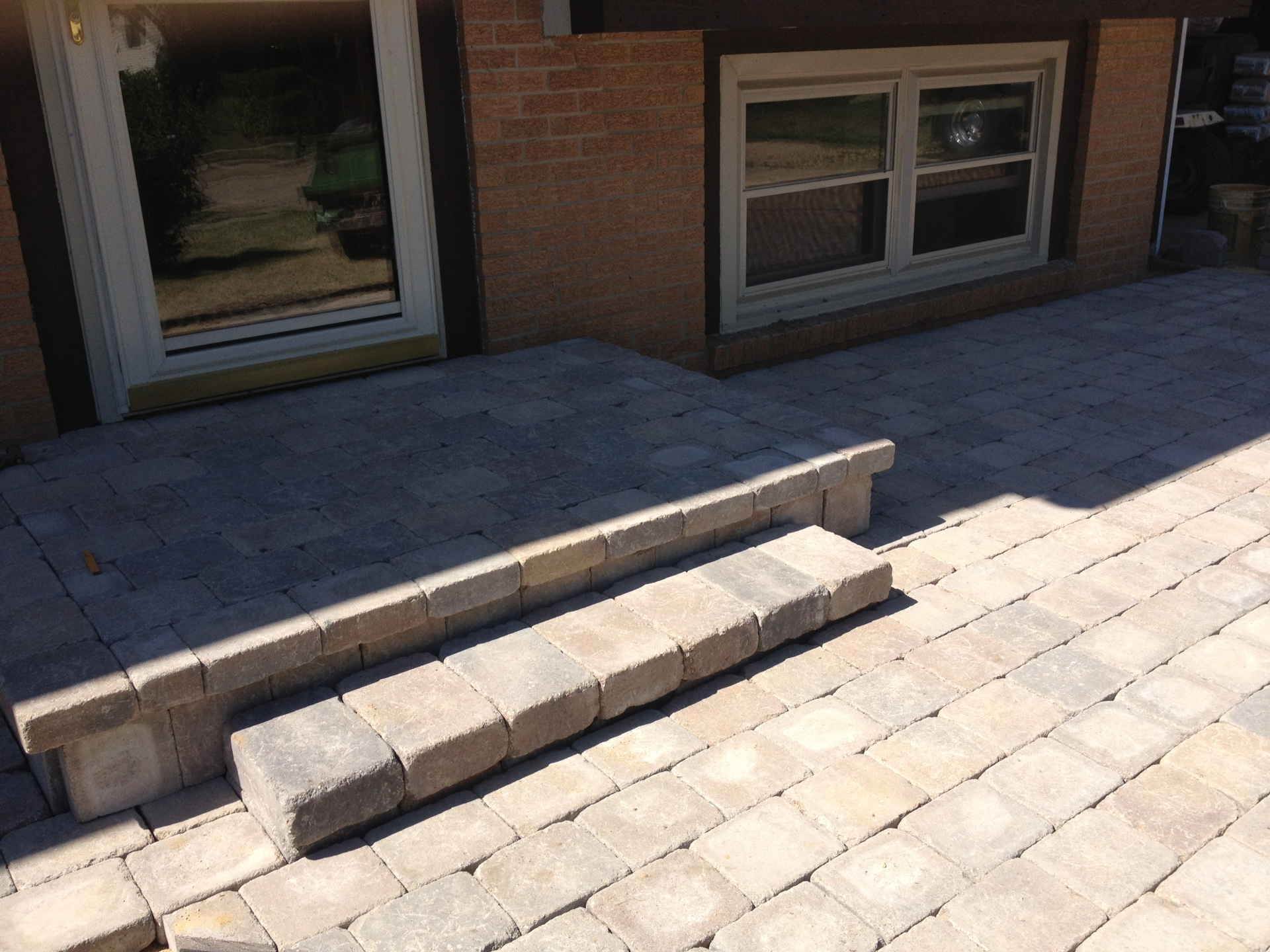 Paver patio and stoop overlay