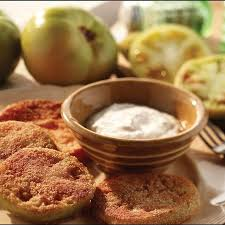 Fried Green Tomatoes with Horseradish Sauce