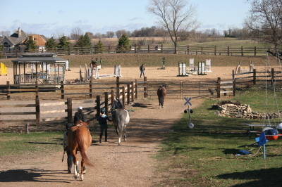 Outdoor riding lesson skyrock farm