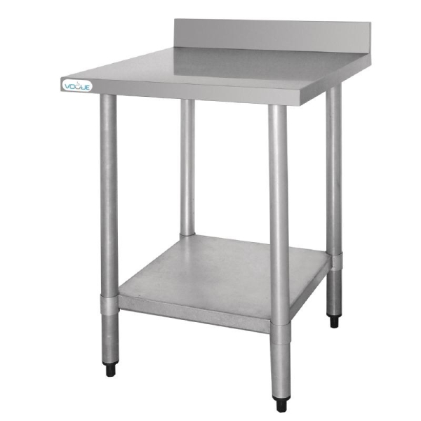 STAINLESS STEEL BENCH WITH UPSTAND