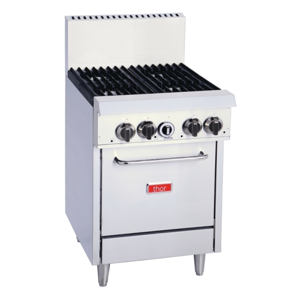 GAS OVEN WITH OPEN BURNERS