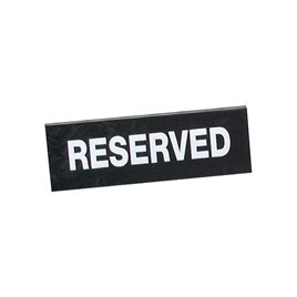 RESERVED SIGN PLASTIC