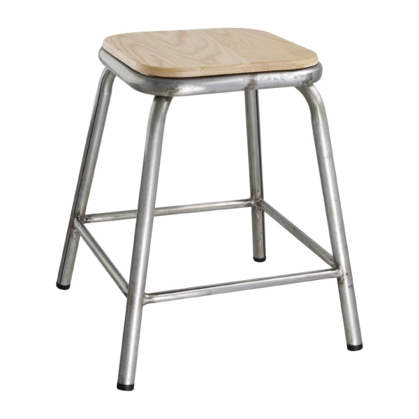 DISTRESSED LOW STOOL