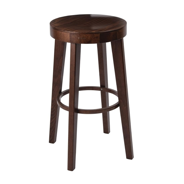 WOODEN HIGH STOOL