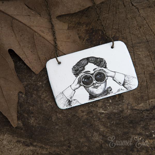 binocular lady