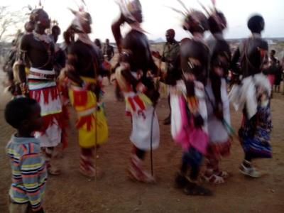 Warrior dancing