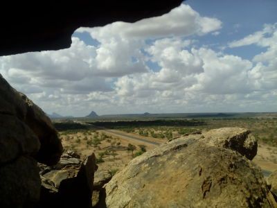 View from big rocks
