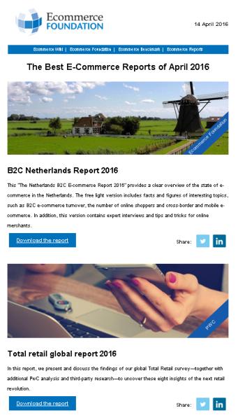 Ecommerce Foundation newsletter