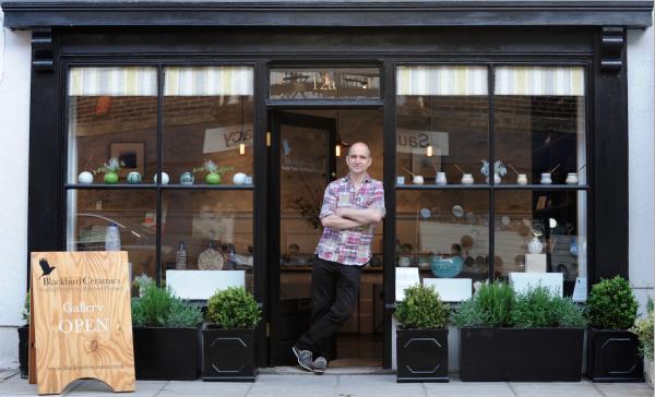 British Ceramic Artist Studio Potter Richard Prentice at Blackbird Ceramics