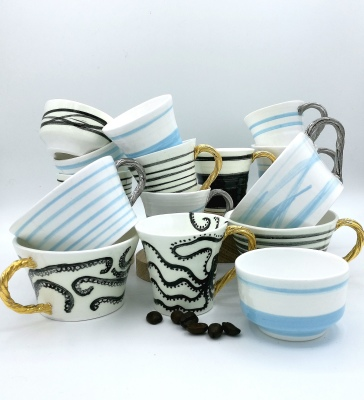 Pembrokeshire pottery ceramic artist saundersfoot saatchi art st brides narberth tenby  the grove coast  penally abbey