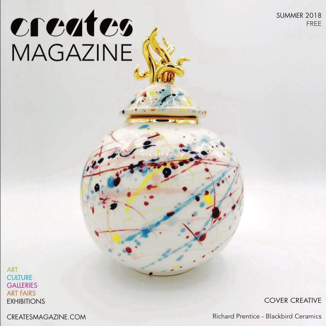 Creates Magazine cover artist British ceramic artist Pembrokeshire studio pottery Sea Urn west coast inspired ceramics