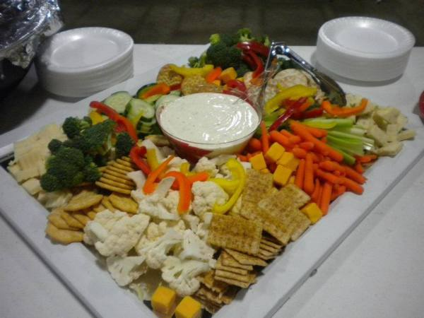 Cheese, Cracker and Veggie Platter