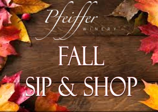 Fall Sip & Shop Sunday, November 3rd, 2019      12-5pm