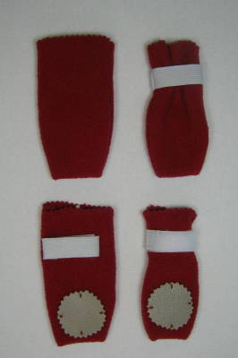 Dog Boots, Red