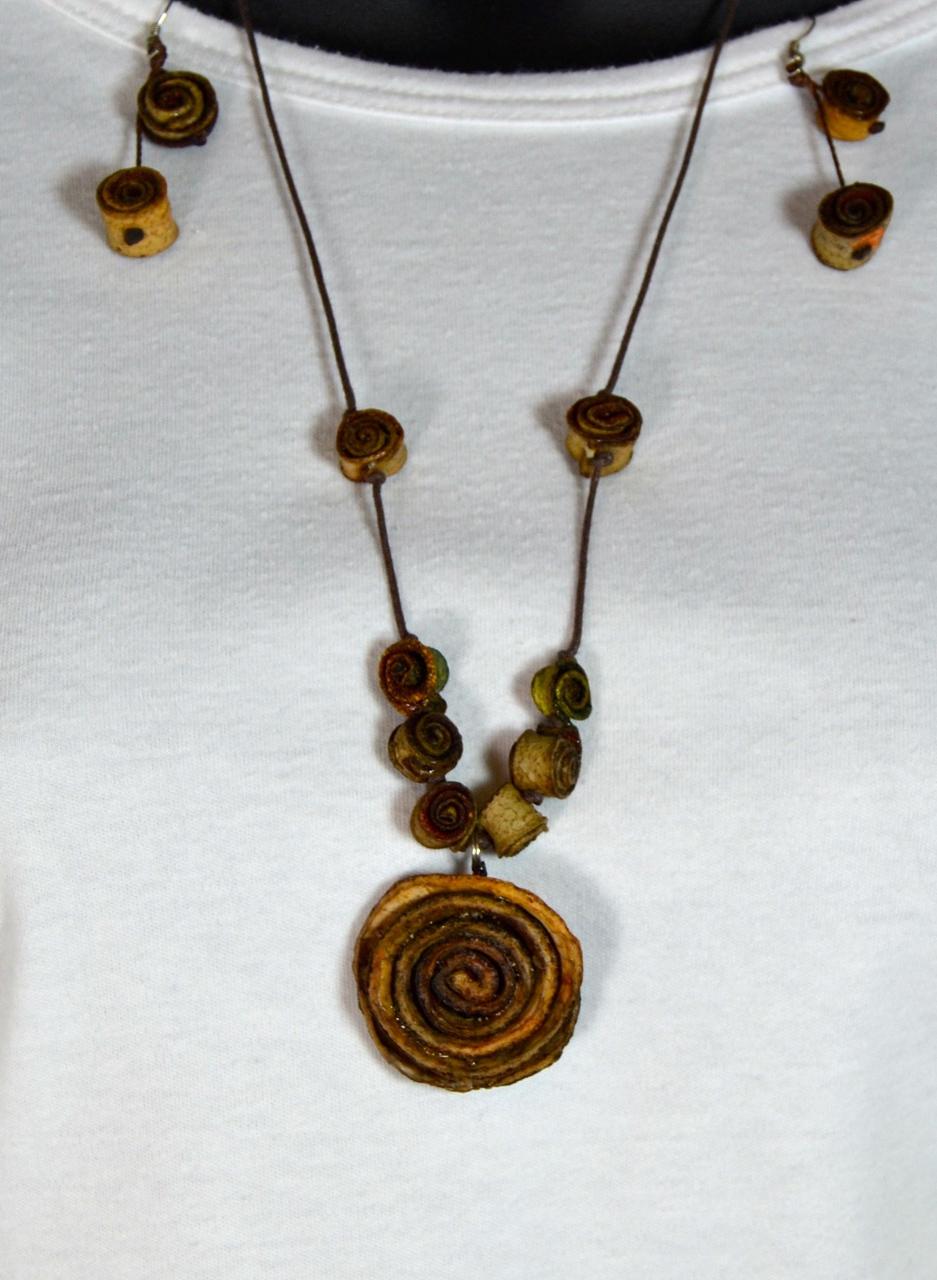 Orange Peel Necklace +