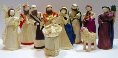 Corn Husk, Nativity Set