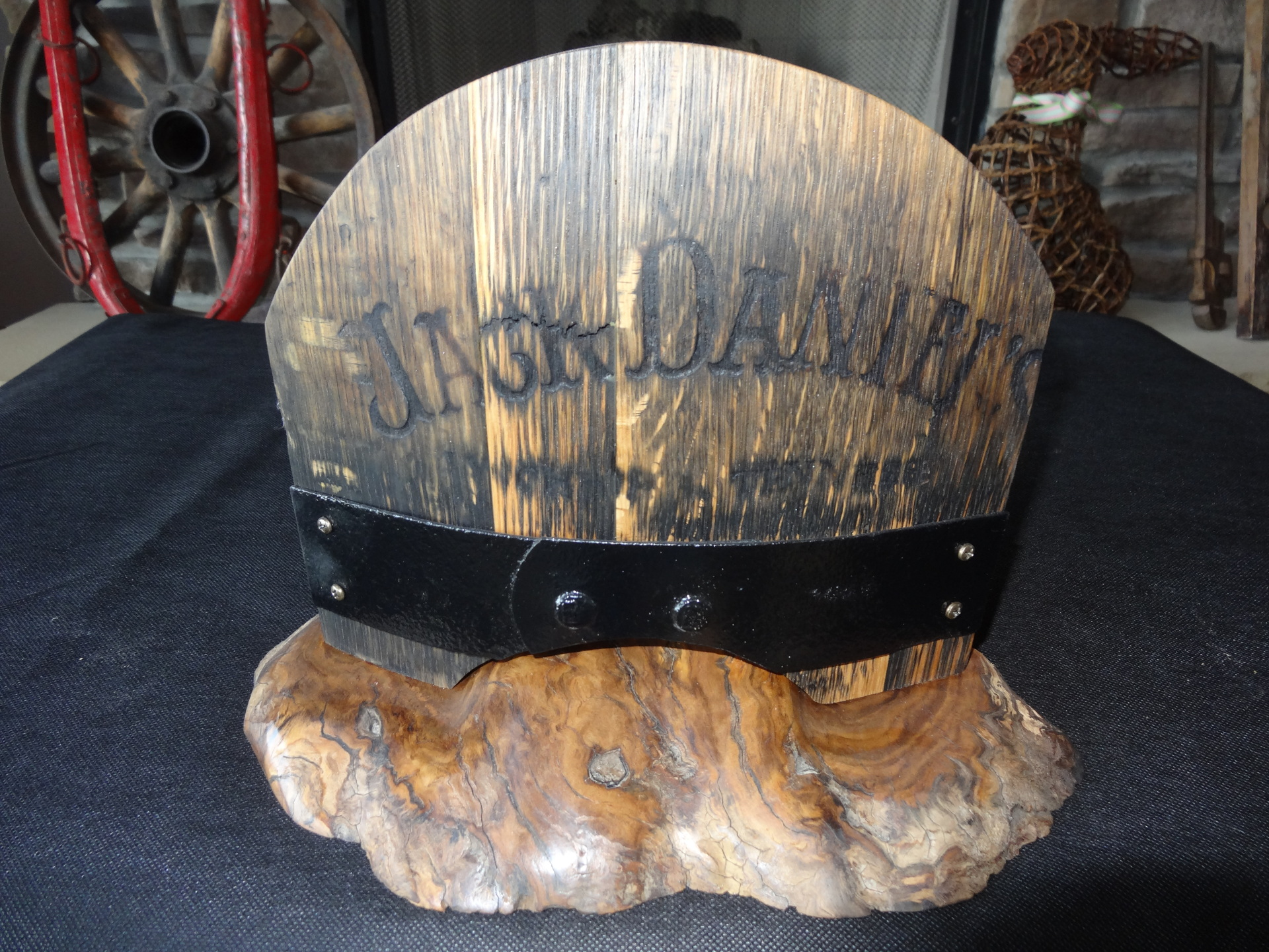 Original Jack Daniels Whiskey Barrel with Original Strapping