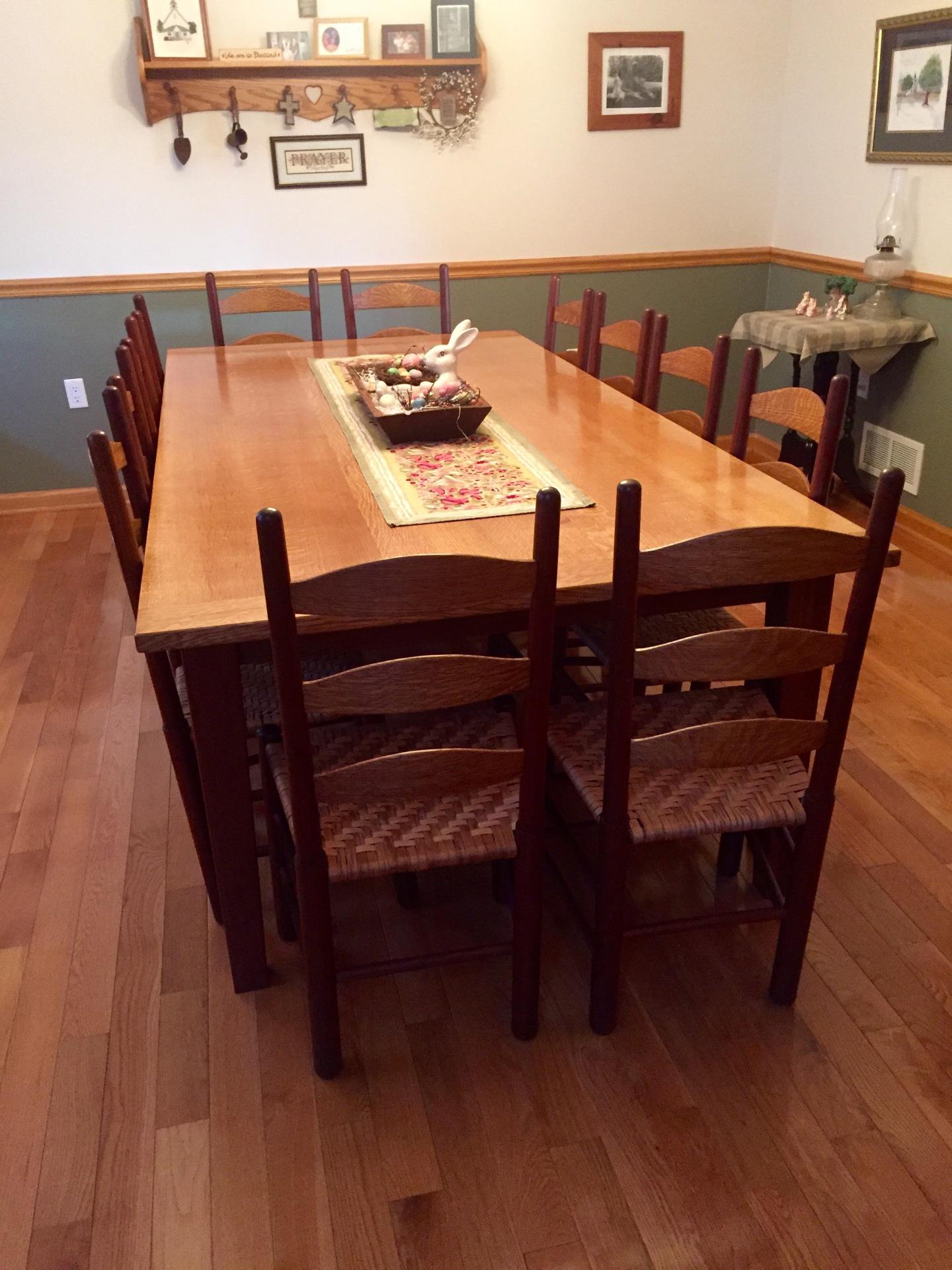 Quartersawn White Oak Farmhouse Table