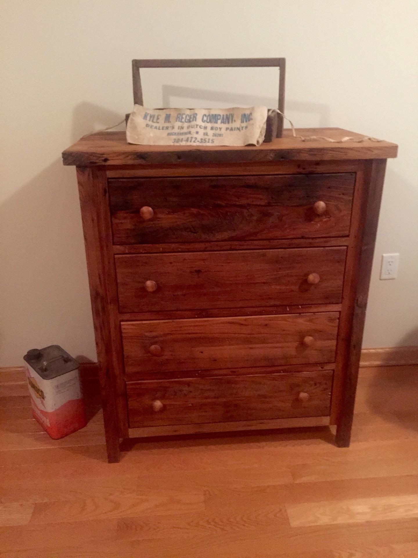 Four Drawer Reclaimed Chestnut Chest