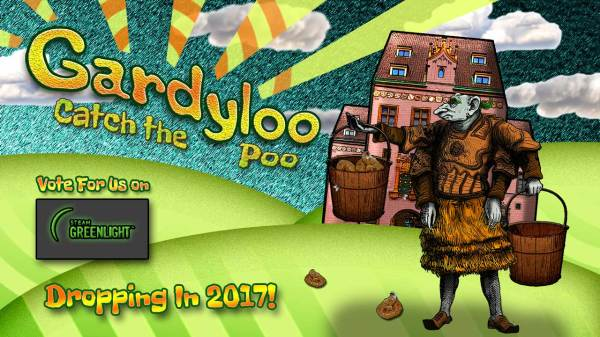 Gardyloo - Catch the Poo: Now on Steam Greenlight