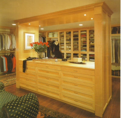 Natural Maple Custom dressing Room
