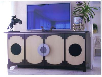 Asian motif console