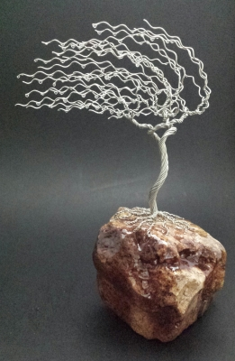 10.5 inch tinned copper tree on sandstone $89
