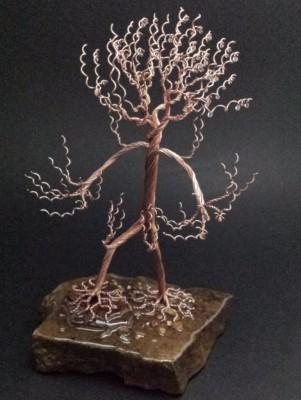 9 inch copper Treeman. $95