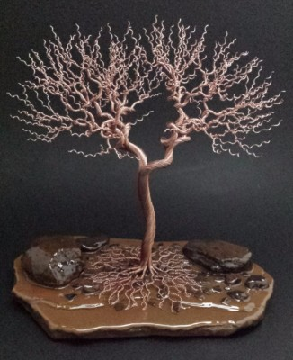 11 inch copper tree $285