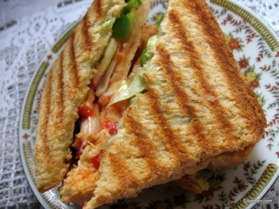VEG GRILLED CHEESE SANDWICH