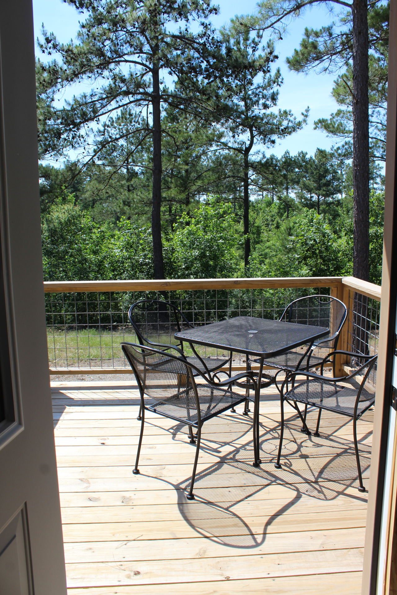 Back deck with seating