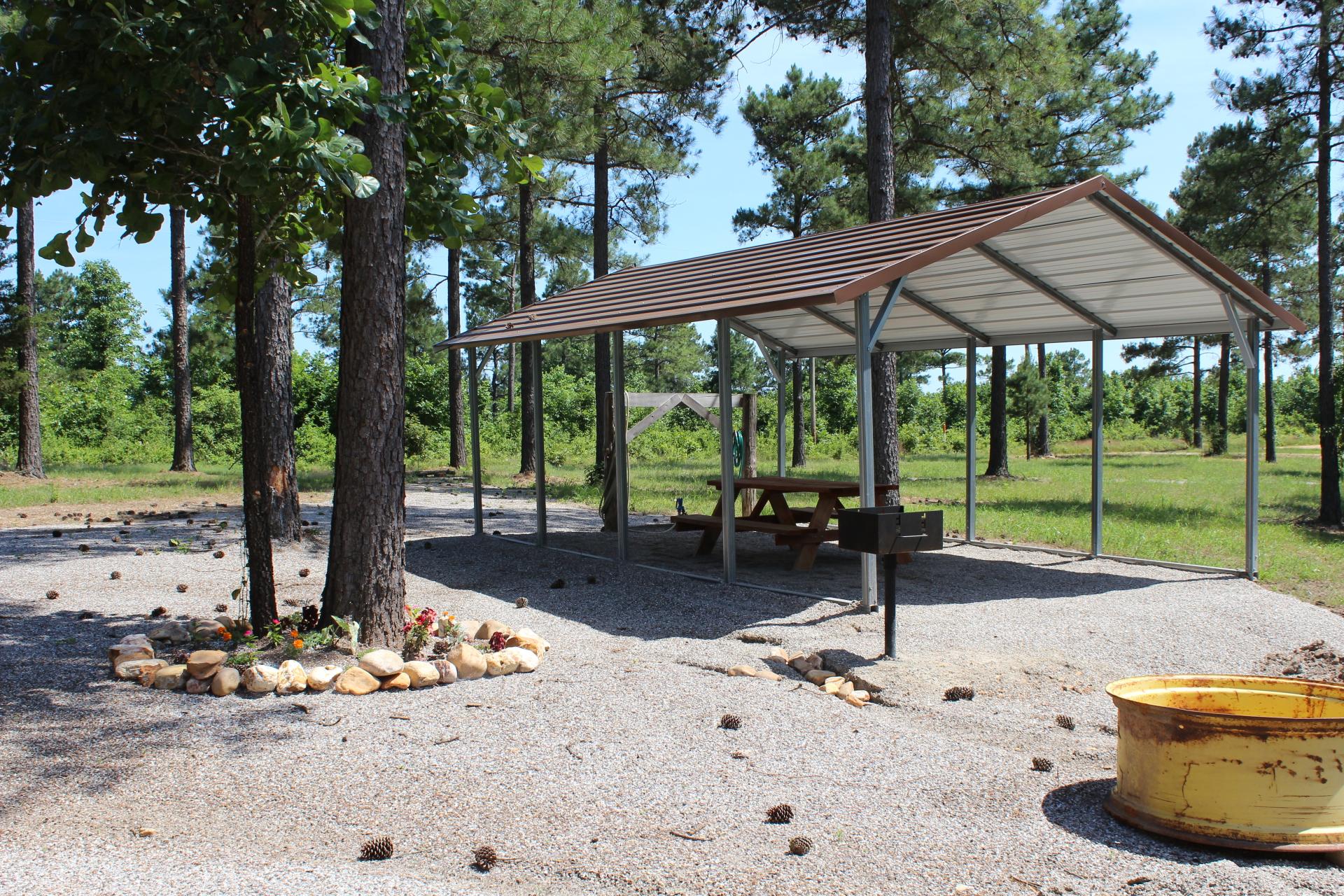 Outdoor picnic area.