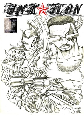 ink Icons issue one cover art.