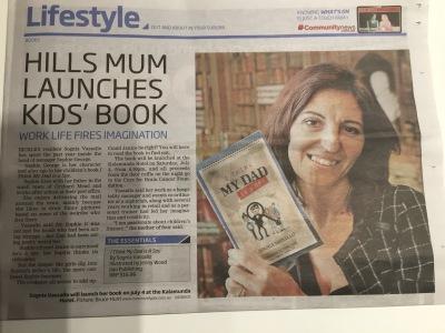 Author, I Think my Dad is a Spy, News, article, Kalamunda Reporter, 2015