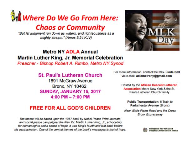 MLK Day Celebration: New York, NY
