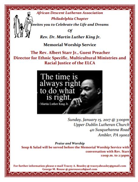 MLK Day Celebration: Philadelphia, PA