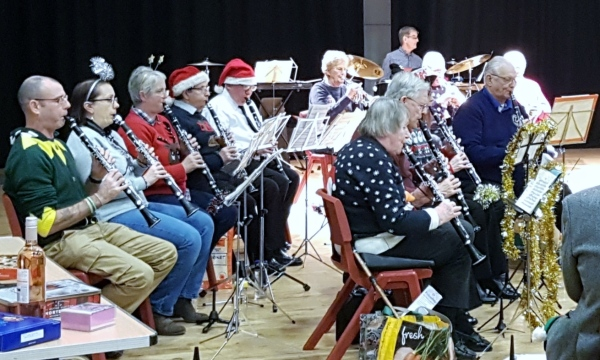 Clarinet Section, Christmas Concert December 15th 2017