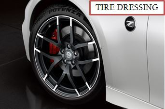 Wheel Cleaning and Tire Dressing Detail Exterior