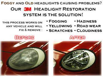Headlight Restore Restoration Exterior Detail Service