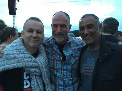 Kevin O'Byrne (Kobalt) and Amos Biegun (Vistex) at The Who concert 2015