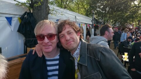 Paul Tunkin (Blow Up Records) and Jake Shillingford (Choppersaurus)