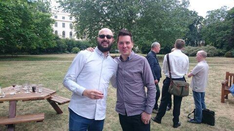 Ed Poston (Glassnotes) and Roberto Neri (Downtown)