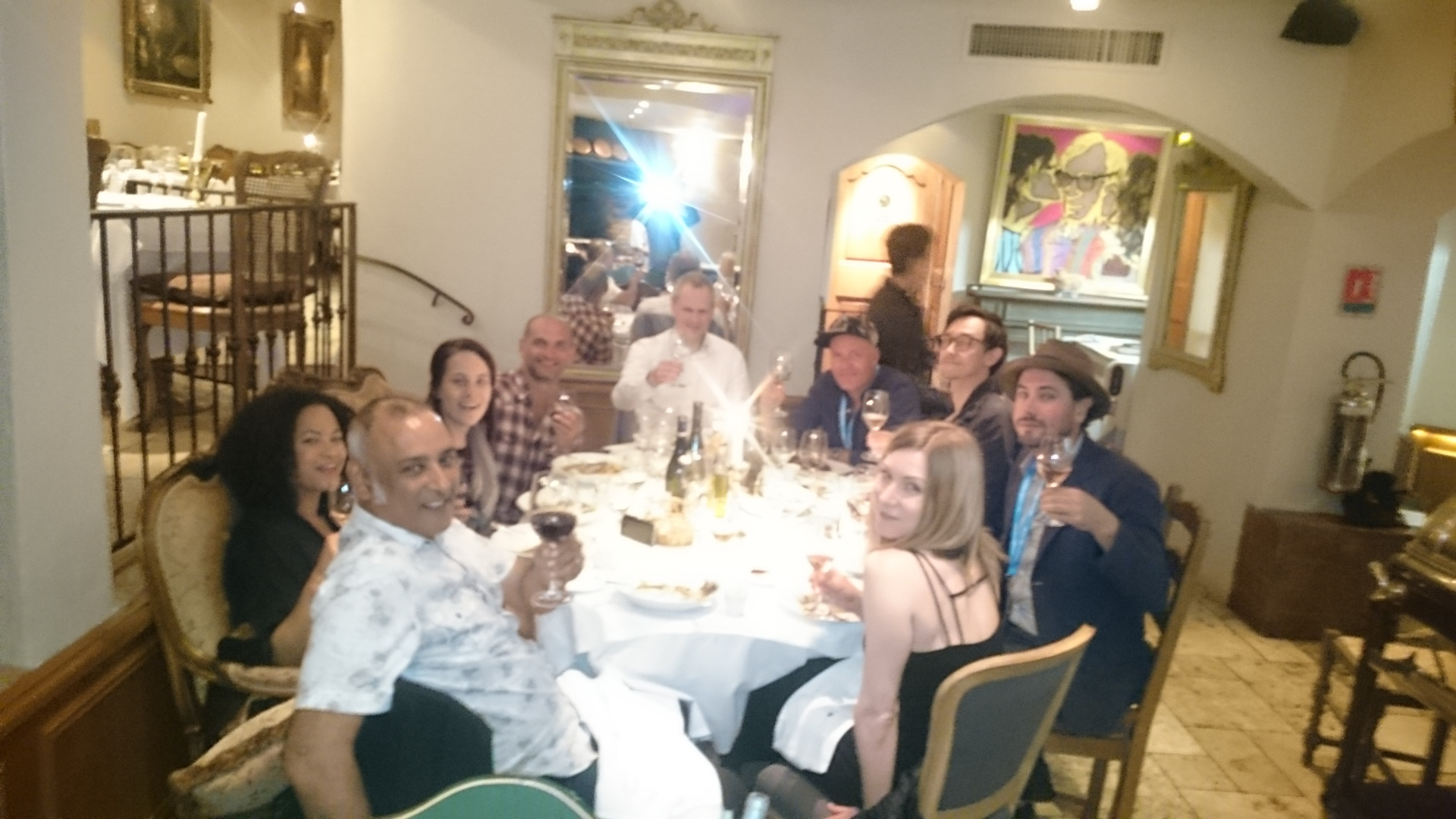 MIDEM dinner with synch folk!