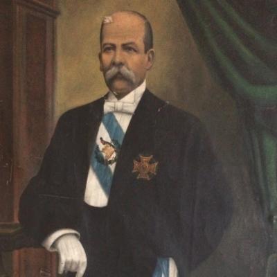 Retrato oficial de don Manuel Estrada Cabrera, del Museo Nacional de Historia de Guatemala.