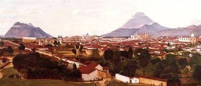 Ciudad de Guatemala.  Cuadro de Augusto De Succa.