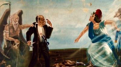 Caída de Manuel Estrada Cabrera; cuadro del Museo Nacional de Historia de Guatemala