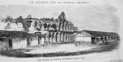 Ruinas del Palacio de los Capitanes Generales en 1850