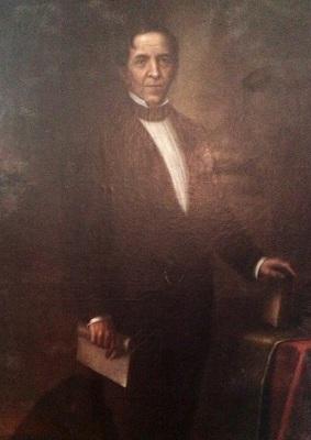 Retrato oficial del doctor Mariano Gálvez.  Museo Nacional de Historia de Guatemala