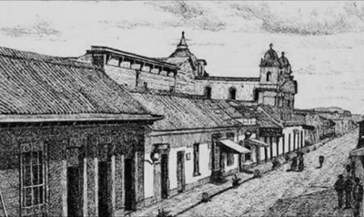 Iglesia de El Carmen en la Ciudad de Guatemala en 1890. Wikimedia Commons.