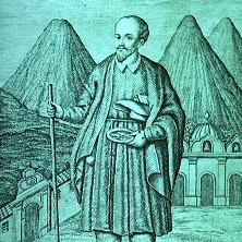 Grabado del Santo Hermano Pedro de 1808; de la colección Yas Noriega, via Wikimedia Commons.
